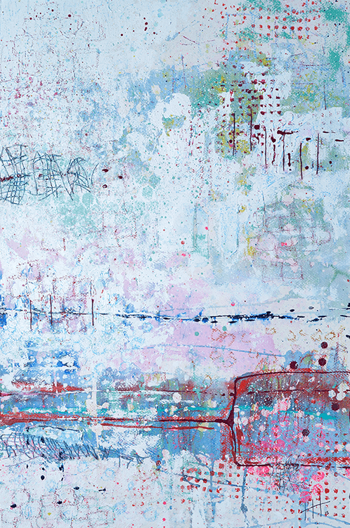 'Walking the Loop' Acrylic & Mixed Media / 129cm x 93cm (framed) SOLD