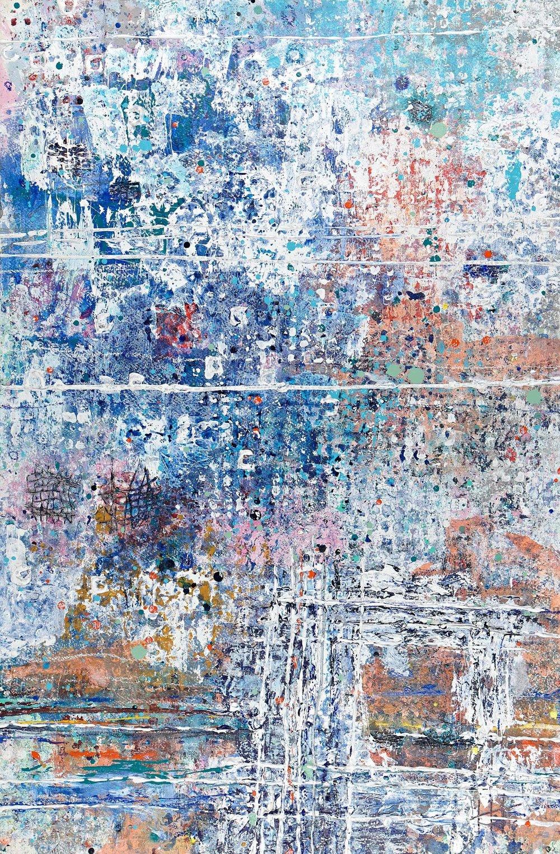 'Quay Street' Acrylic & Mixed Media /129cm x 93cm (framed) £1,750