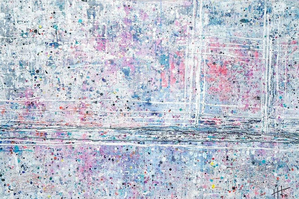 'Untitled' Acrylic / 93cm x 129cm (framed) SOLD