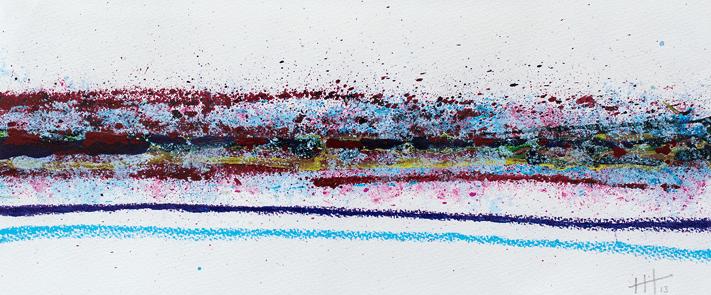 Lines #1 Acrylic & Pastel /18cm x 40cm SOLD