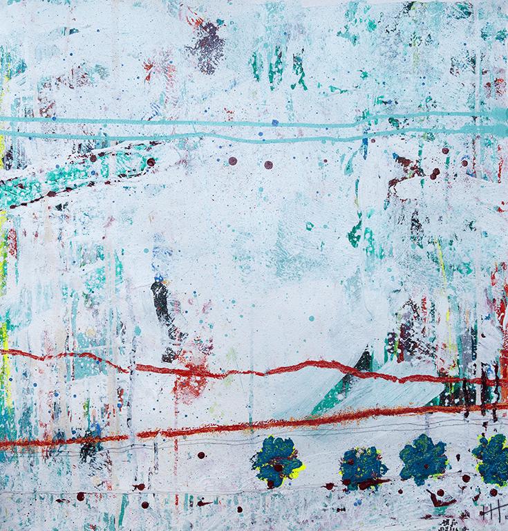 'Untitled' Acrylic /73cm x 73cm (framed) SOLD