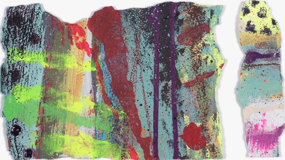 'Untitled 3' Acrylic /36cm x 48cm (framed) SOLD