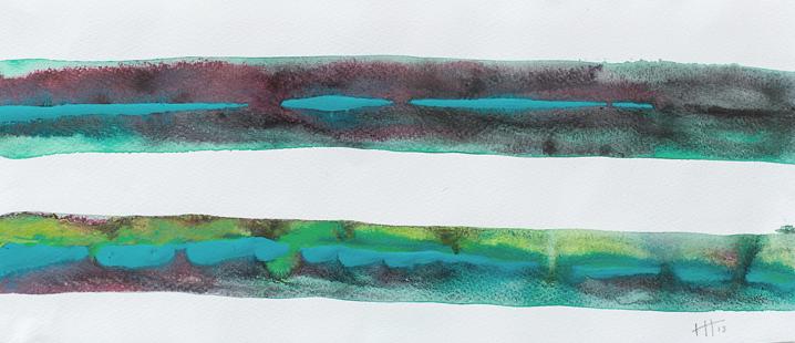 'Lines #3' Acrylic /18cm x 40cm SOLD