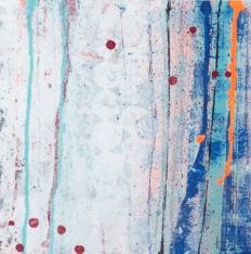 'Urban Gem' Acrylic/Charcoal/pastel /52cm x 52cm (framed) SOLD