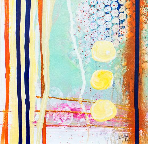'Deckchair Days'   Acrylic /  41cm x 41cm (framed) SOLD