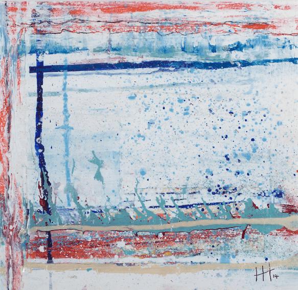 'River Walk' Acrylic /47cm x 47cm (framed) SOLD