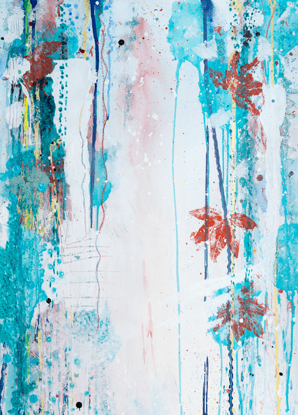 'Untitled'   Acrylic /   76  cm x 58cm (framed)   SOLD