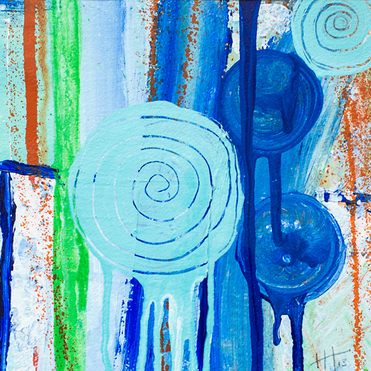 'Harbour' Acrylic /41cm x 41cm (framed) SOLD