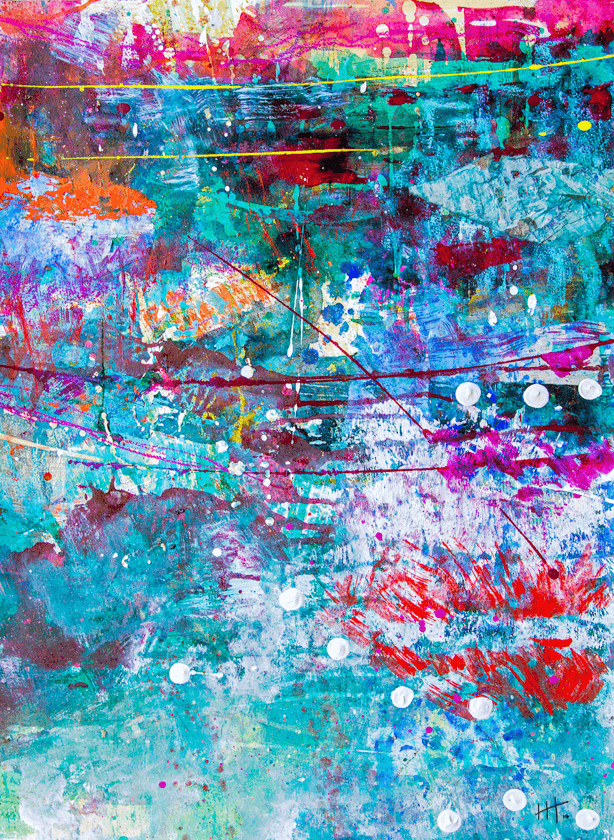 'Untitled' Acrylic / 78cm x 60cm (framed) SOLD