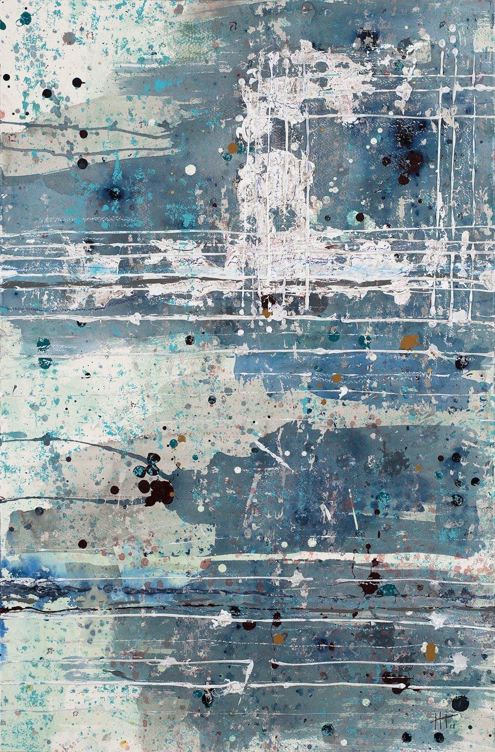 'Seventy Three' Acrylic & Mixed Media / 119cm x 93cm (framed) £1,850