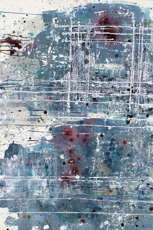 'Tremenheere' Acrylic & Mixed Media / 119cm x 93cm (framed) £1,850