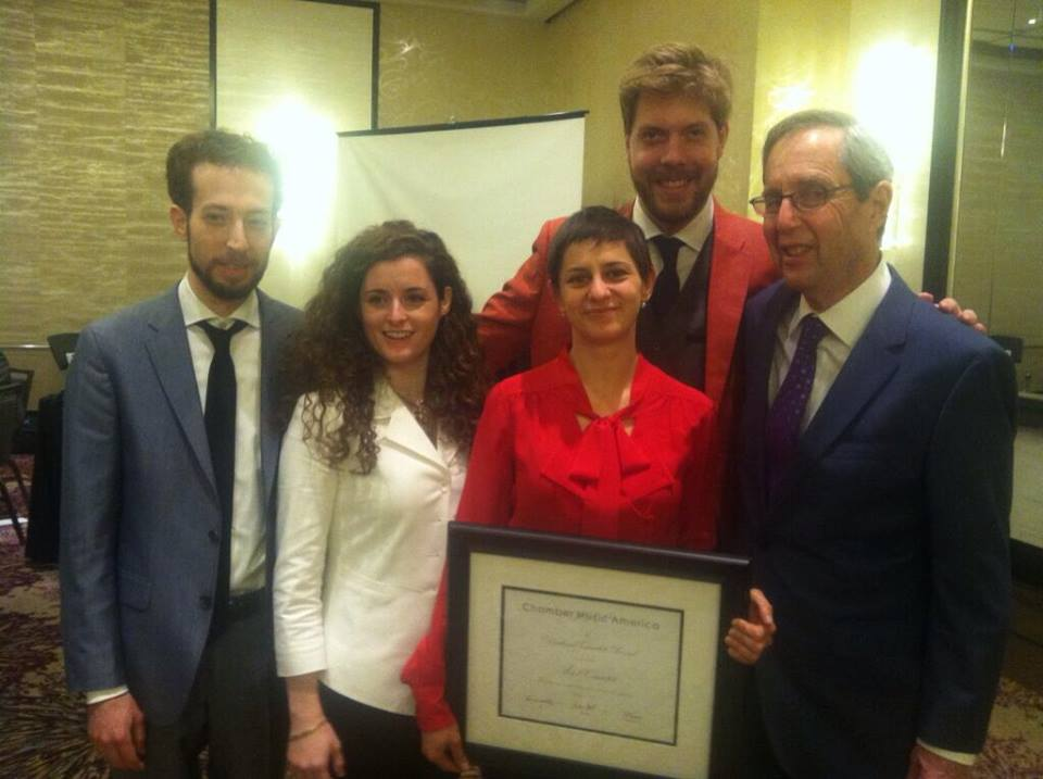 With quartet mentor Donald Weilerstein after receiving the Award