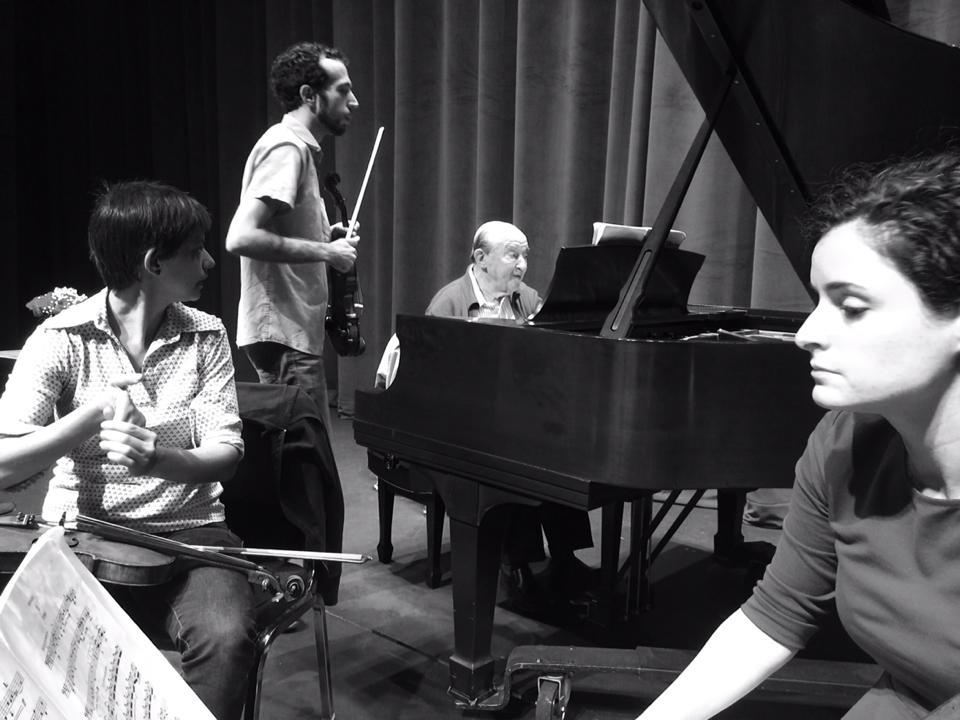 In rehearsal with Menahem Pressler
