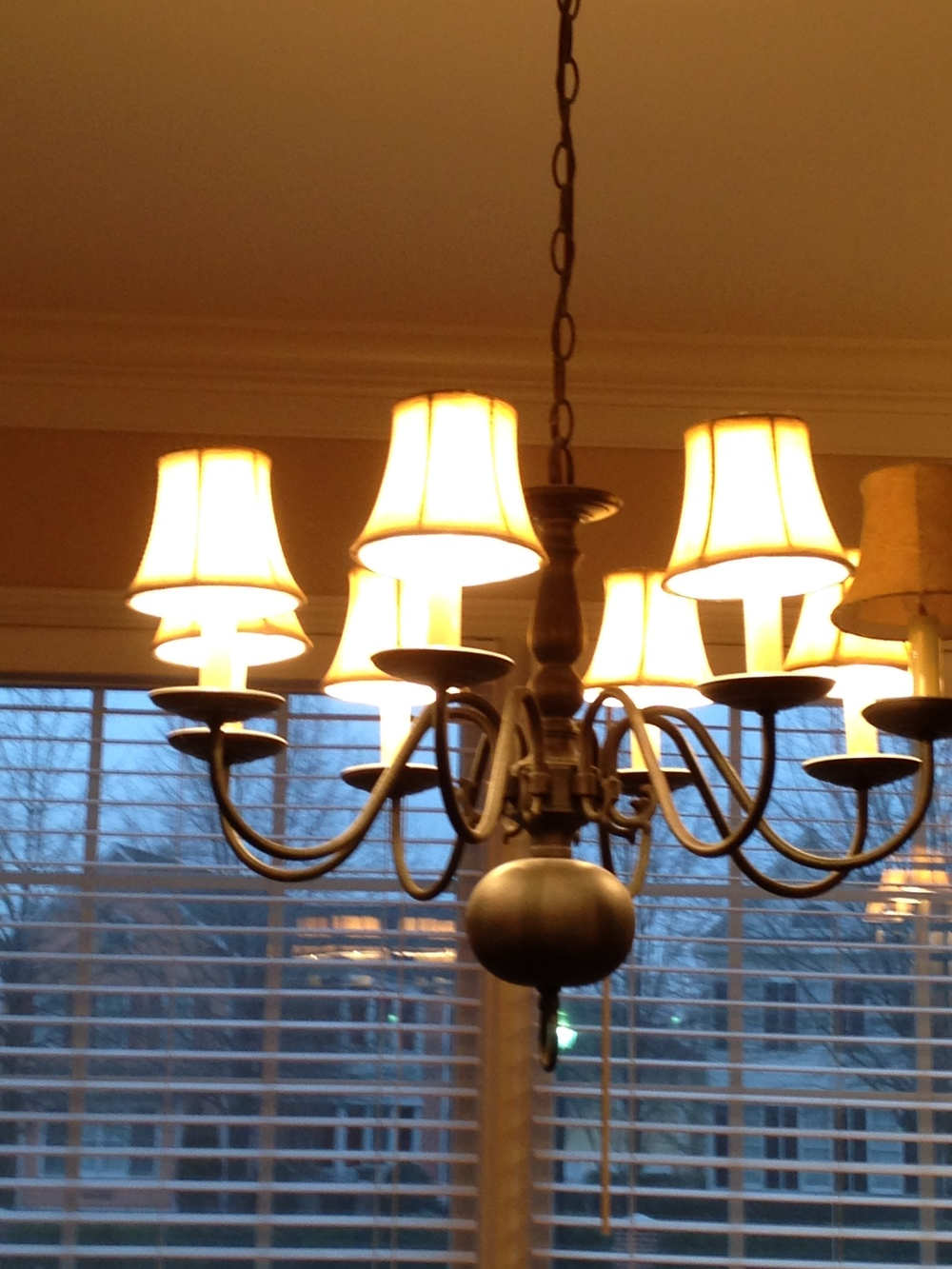 Dining Room Chandelier - Before