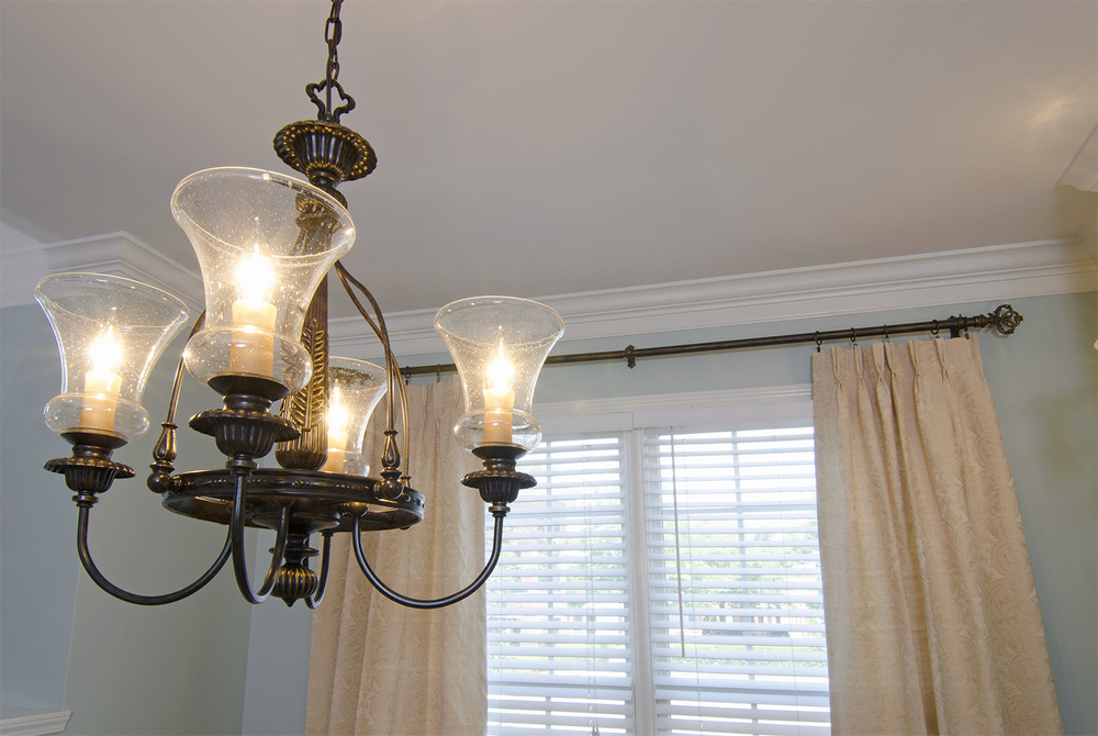 Dining Room Chandelier - After