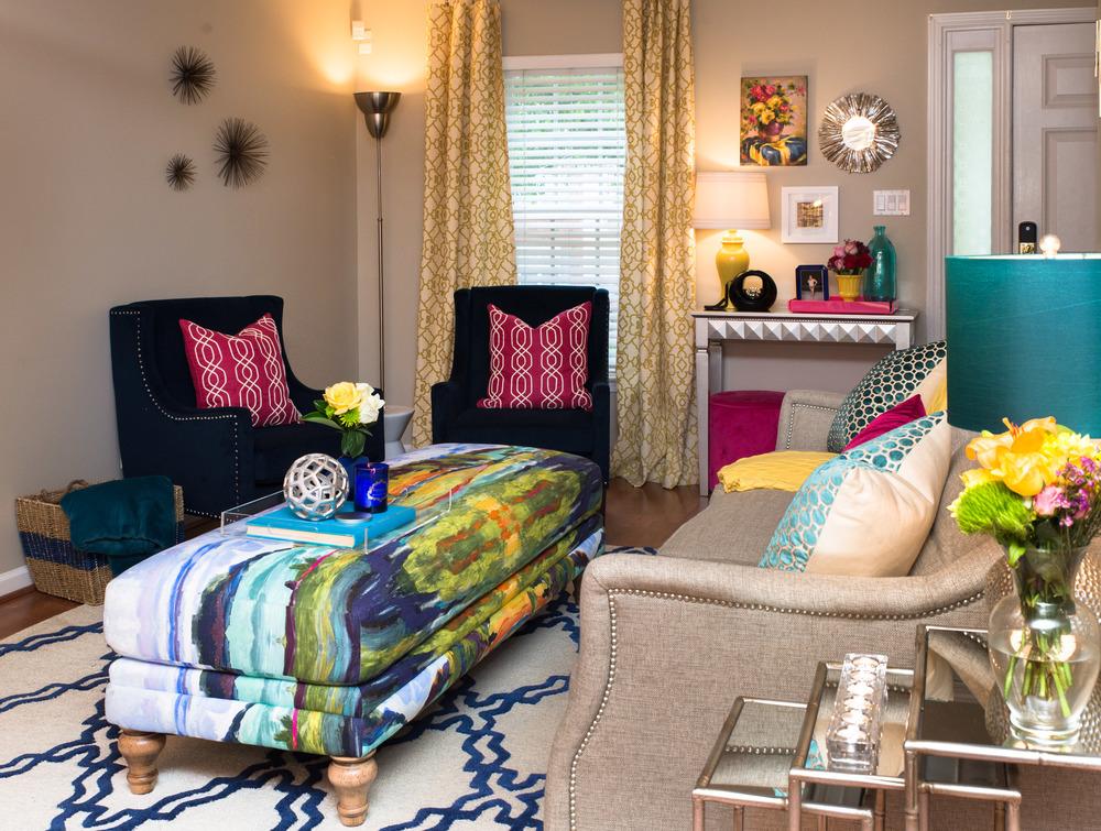Artful Interiors Glam Living Room 1