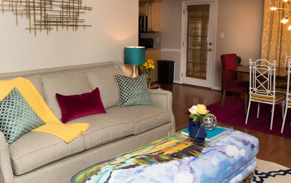 Artful Interiors Glam Living Room Sofa