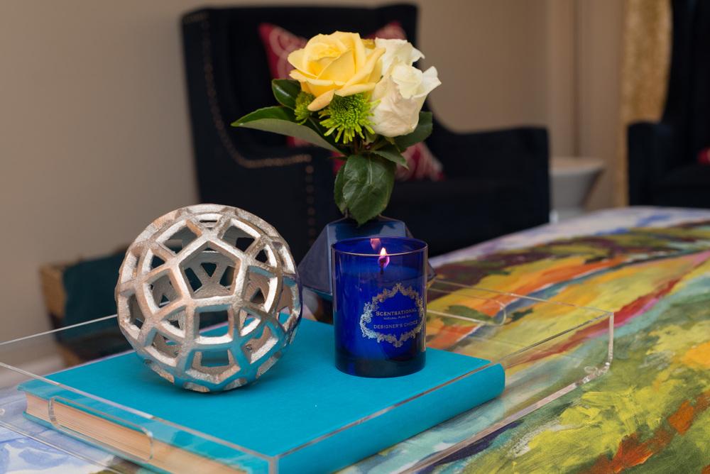 Artful Interiors Glam Living Room Tray