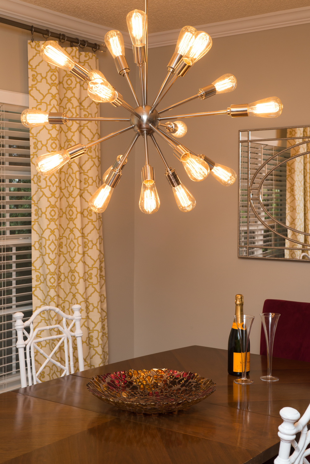 Artful Interiors Glam Dining Room Sputnik Chandelier