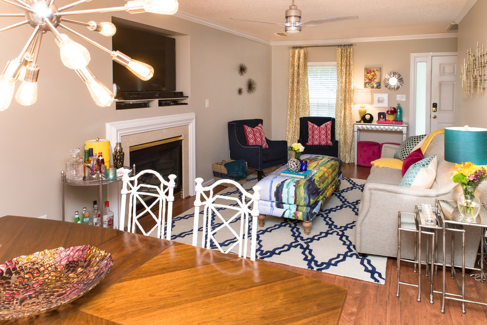 Artful Interiors Glam Living and Dining Rooms