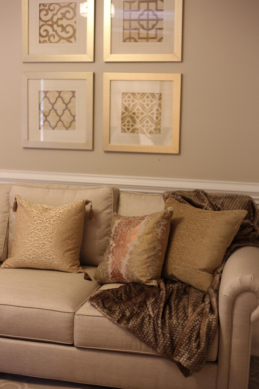 Artful Interiors Gold Pillows