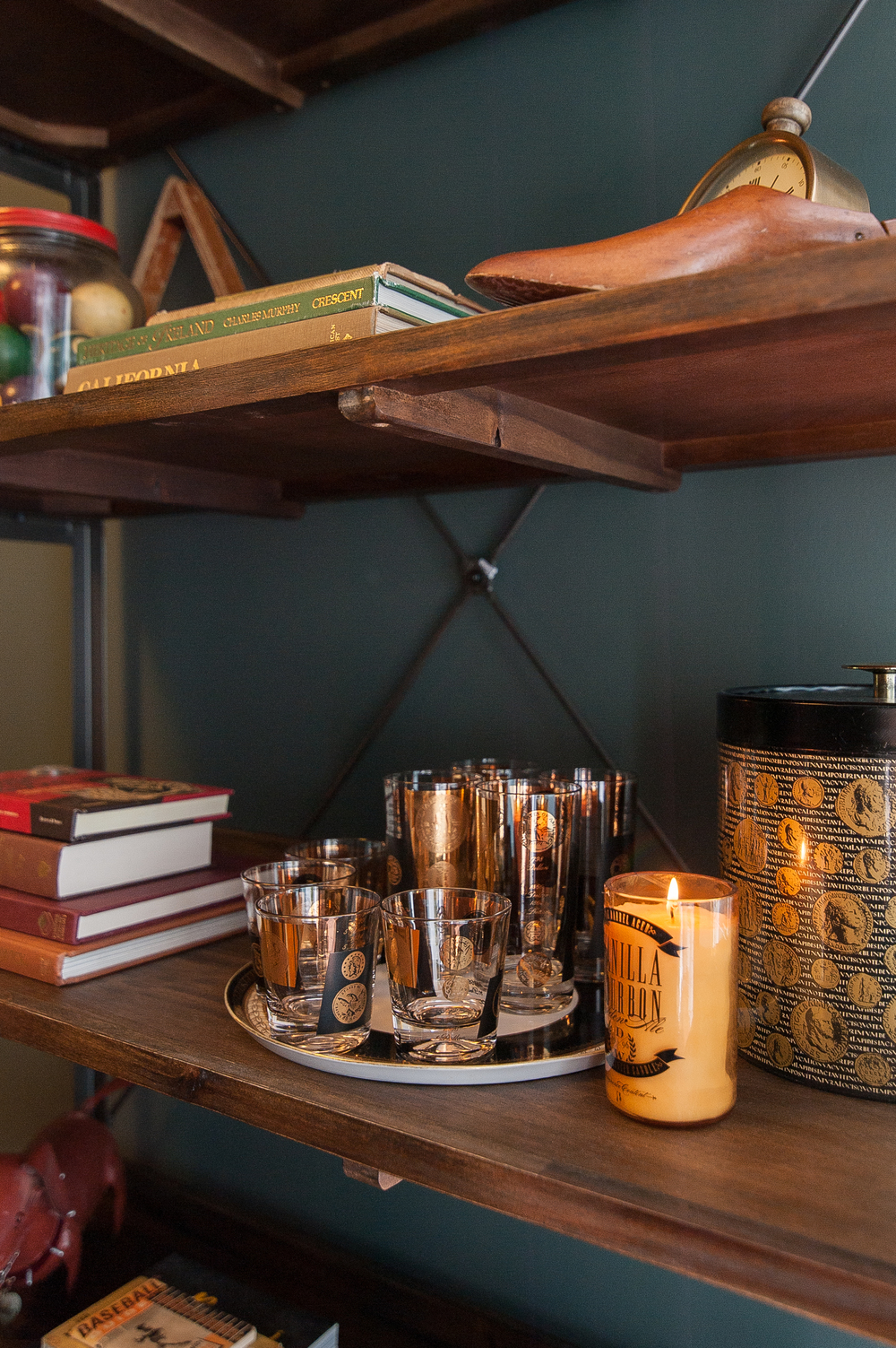 Artful Interiors - Bachelor Pad - Gold Coin Glasses