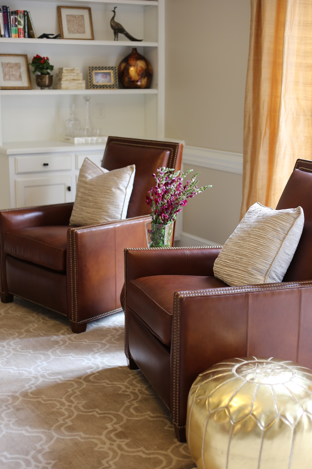 Artful Interiors – Global Living Room - Leather Chairs