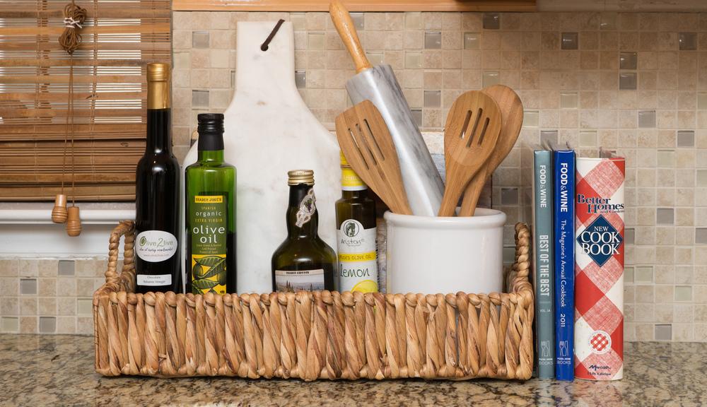 Artful Interiors – Bachelorette Pad - Kitchen Basket