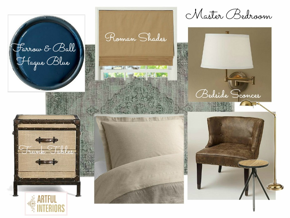 Artful Interiors – Bachelor Pad - Master Bedroom - Design Board