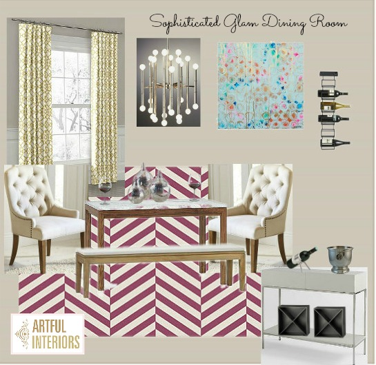 Artful Interiors – Bachelorette Pad - Dining Room - Design Board