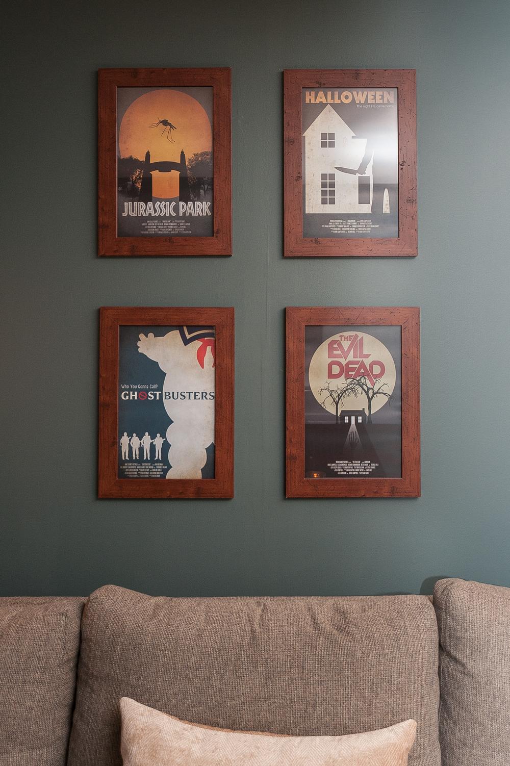Artful Interiors Man Cave Movie Posters