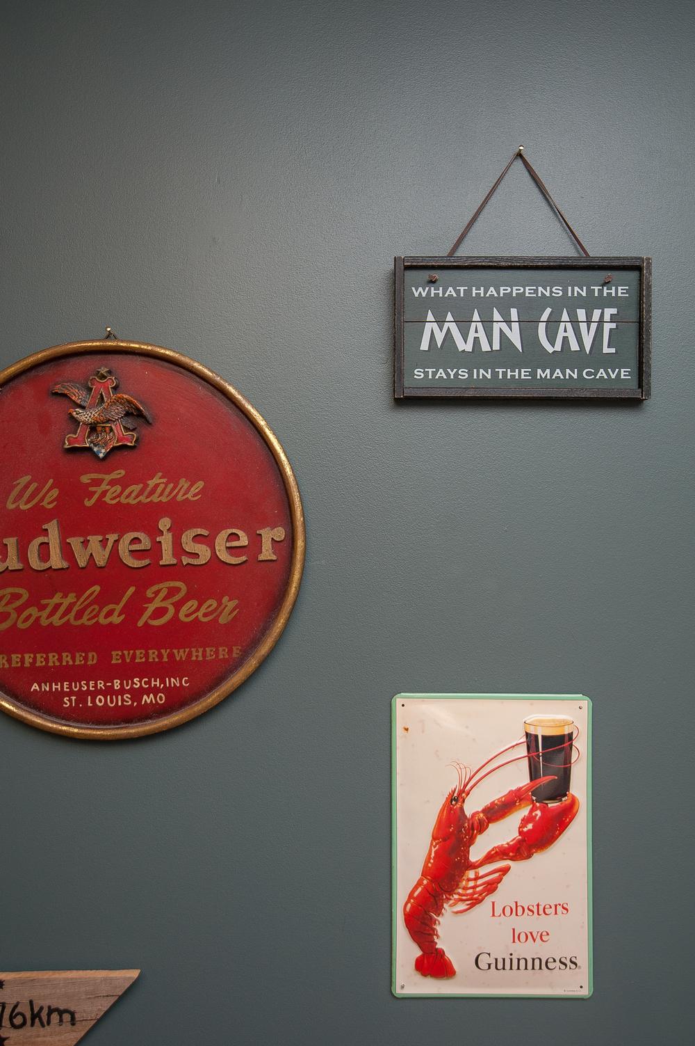 Artful Interiors Man Cave Beer Signs