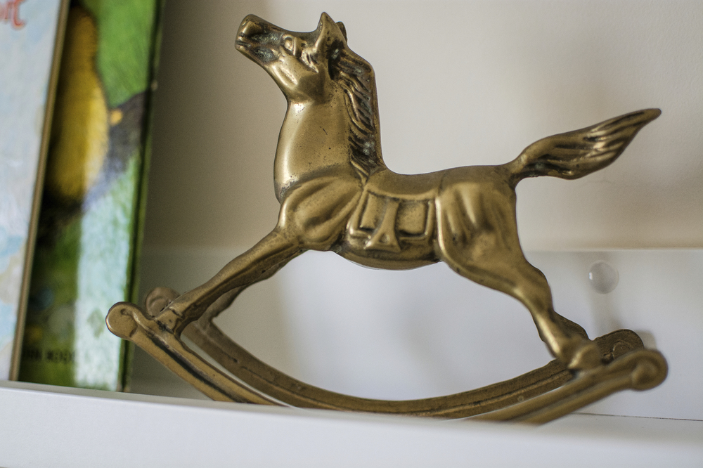 Artful Interiors - Nursery - Brass Rocking Horse