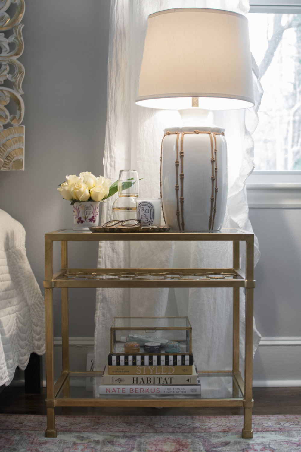 Artful Interiors - Bohemian Bedroom - Nightstand Detail