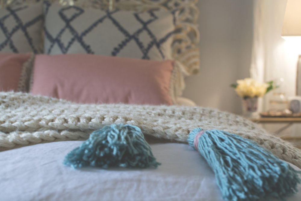 Artful Interiors - Bohemian Bedroom - Tassel Detail