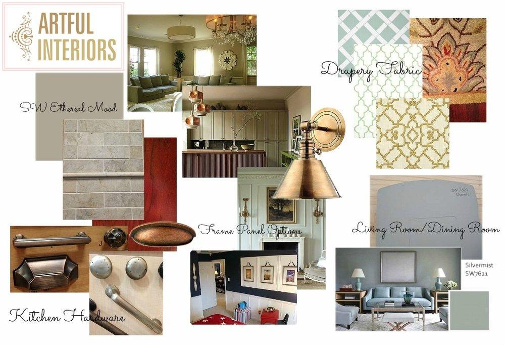 Artful Interiors - Kitchen Colors - Design Board