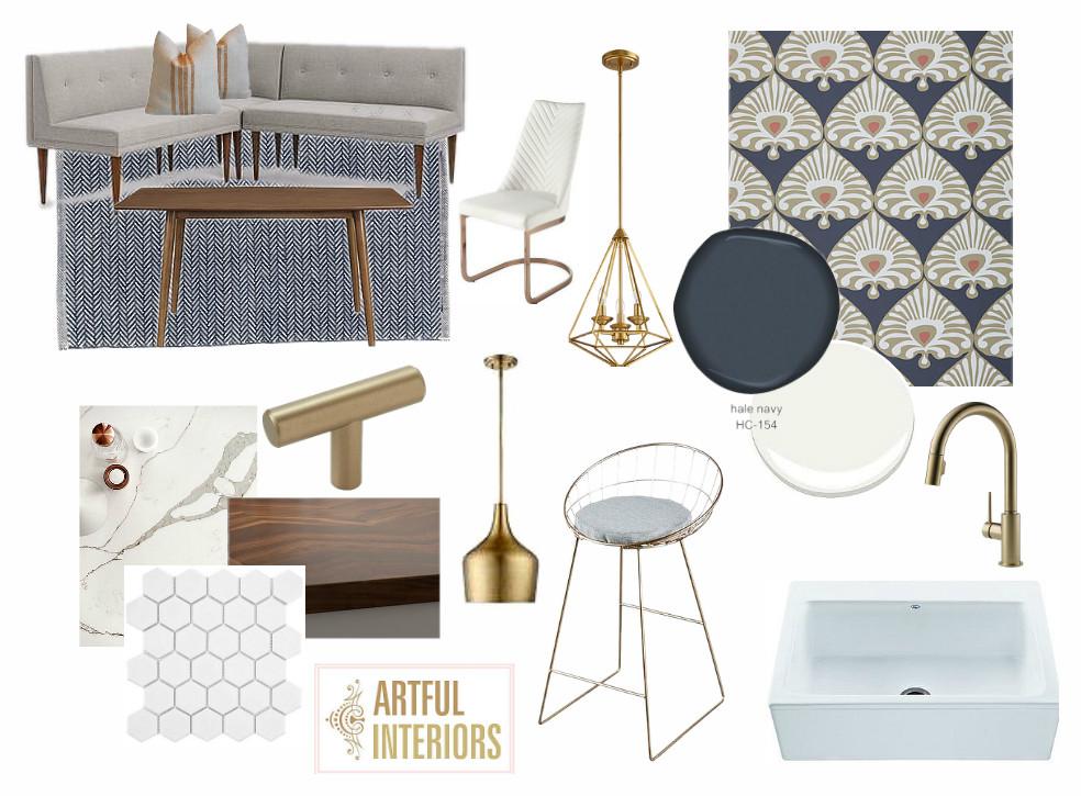 Artful Interiors - Modern Kitchen - Design Board