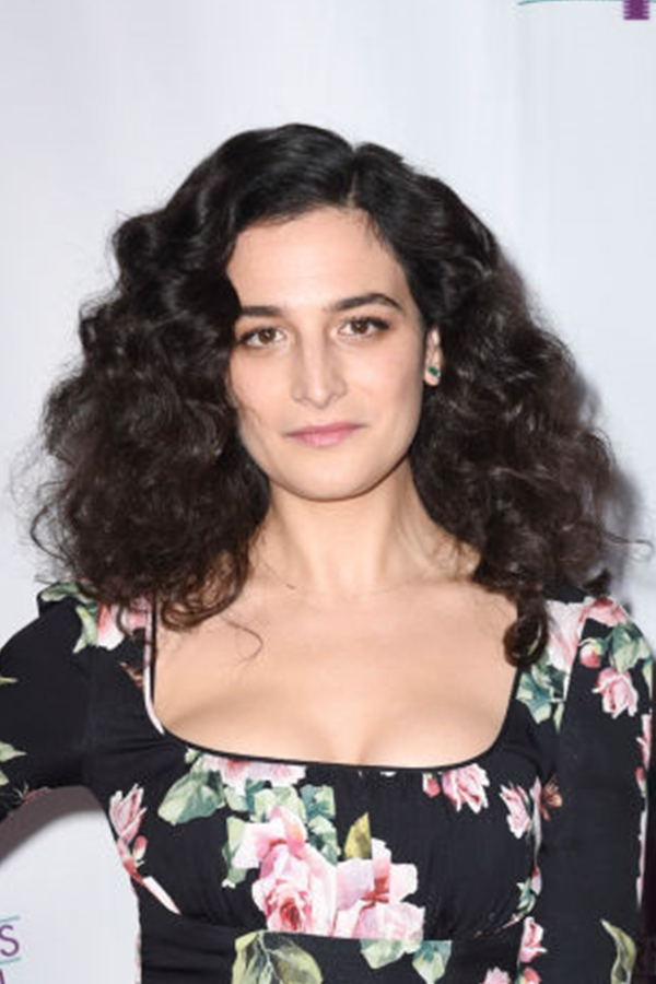 Jenny Slate , Actress   Wears our  Malachite Diamond Bar Stud Earrings .
