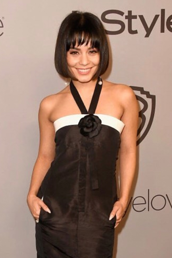 Vanessa Hudgens , Actress   Wears our  14K Gold Duo Pearl Drop Earrings  &  14K Gold Pearl Orbit Rin g.