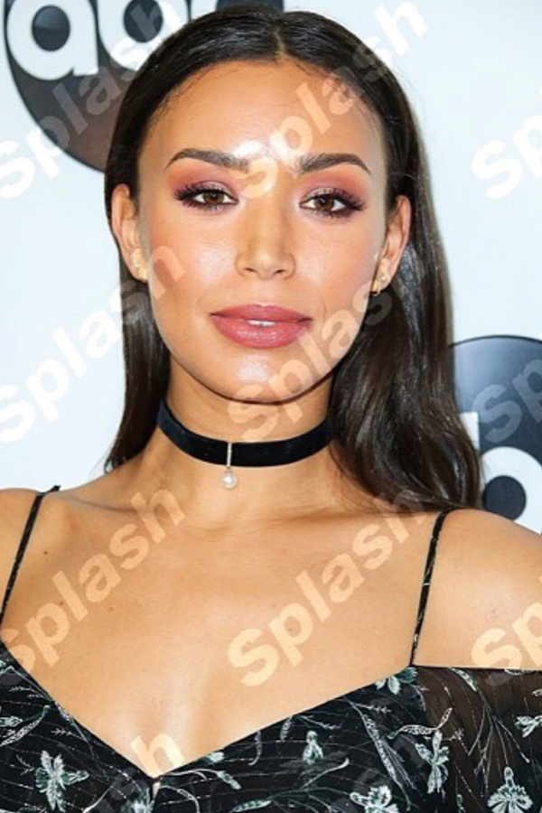 Ilfenesh Hadera , Actress   Wears our  Lady Mother of Pearl Velvet Choker .