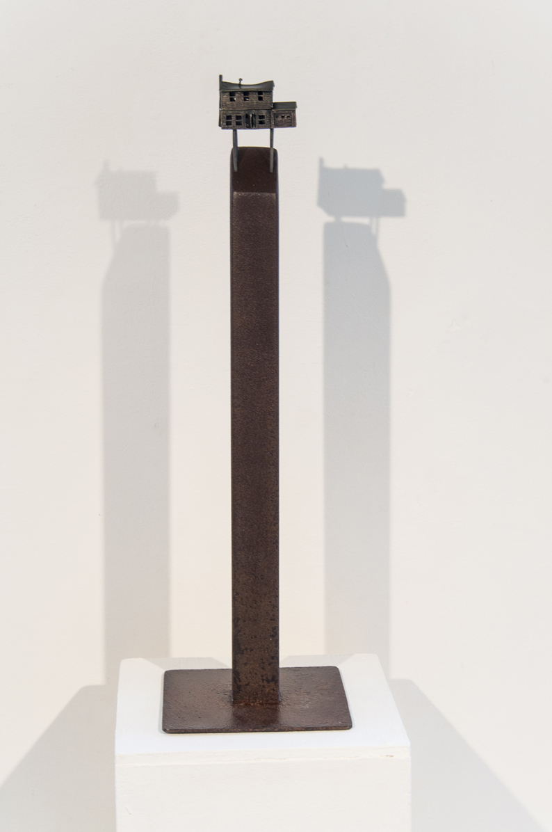 Lauren Selden  I Never Saw the Attic 2016 18 x 9 x 9 inches Bronze, steel $1800.00