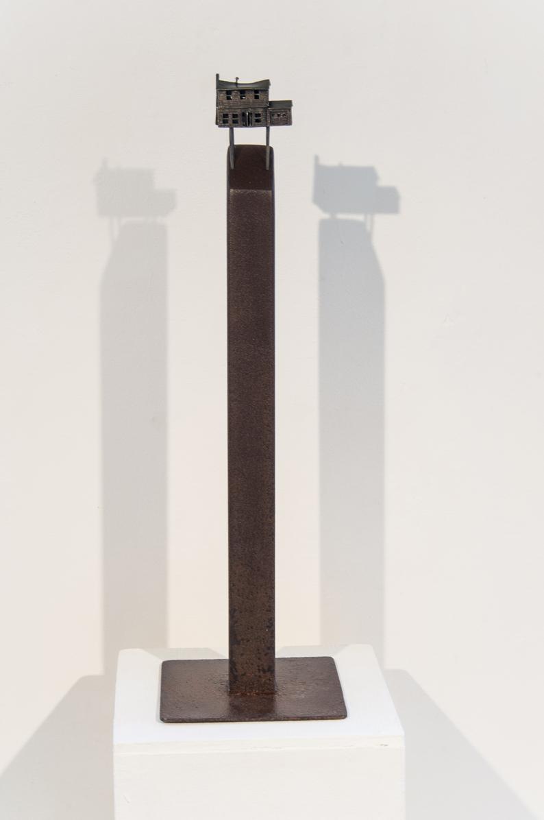 Lauren Selden  I Never Saw the Attic 2016 18 x 9 x 9 inches Bronze, steel $1800.00