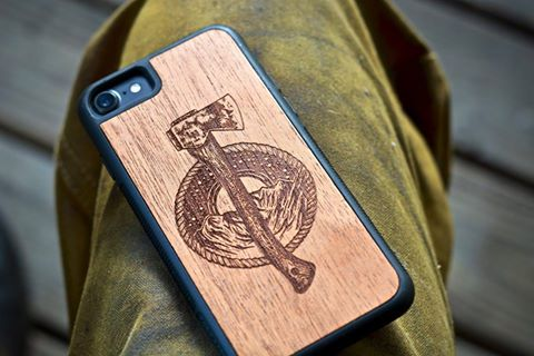 Click on the photo above to get a wooden LH axe phone case! -