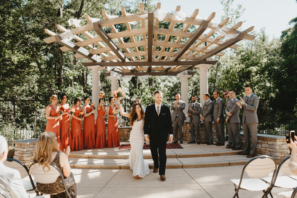 recessional pictures at creekside rose garden