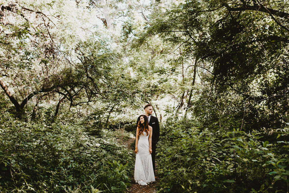 Bidwell park wedding picture