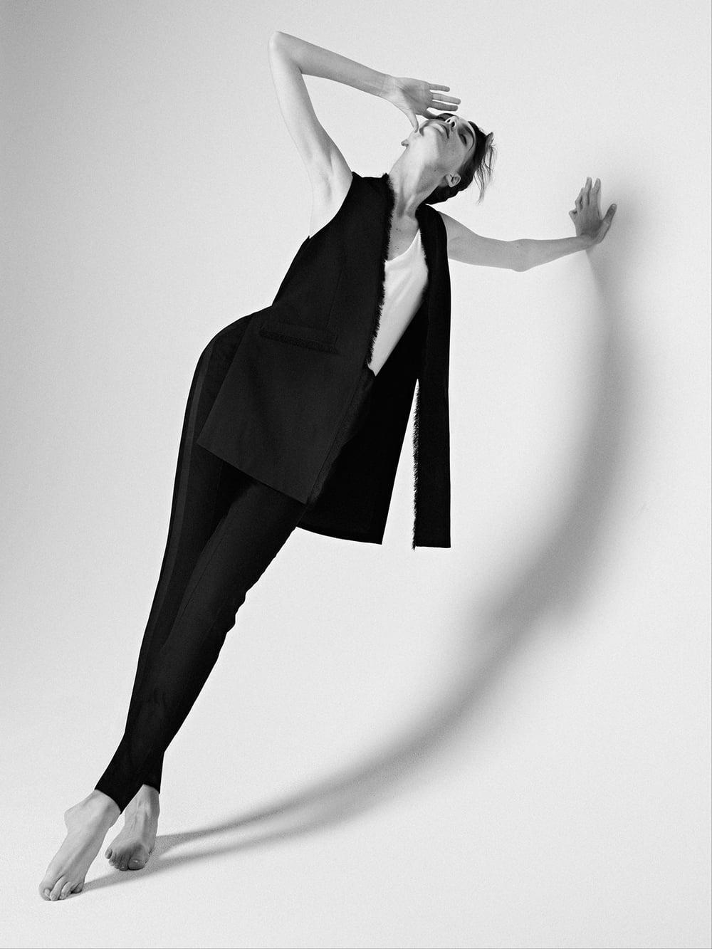 Vest & Trousers by SAINT LAURENT, Tank by ADAM LIPPES.