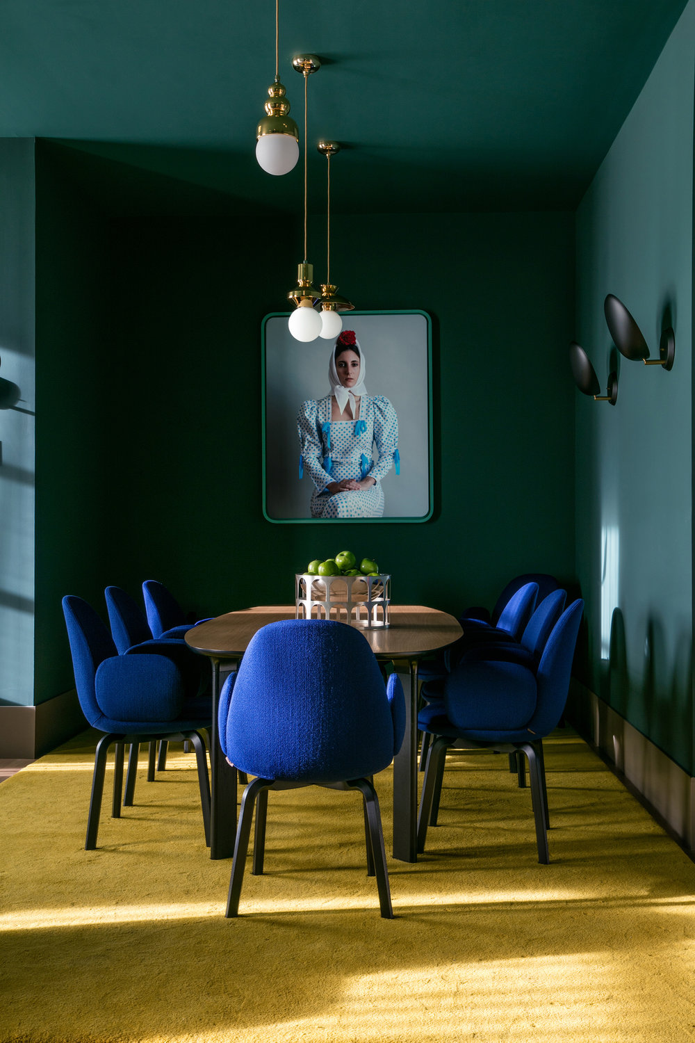 Cobalt Blue Dining Room