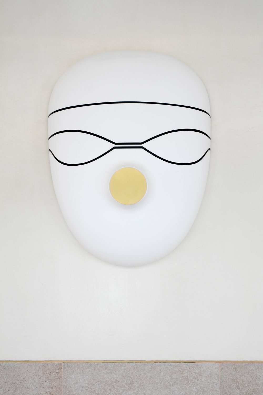 Swimmers mask, special design by Jaime Hayon for Hotel Barceló Torre de Madrid