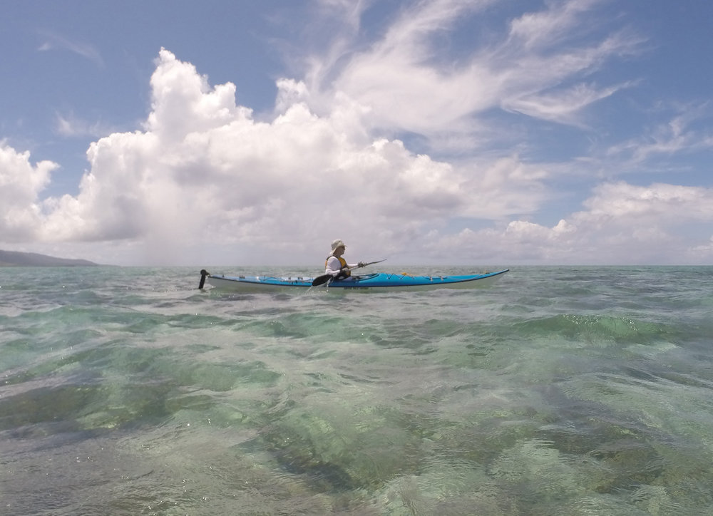 Kayaking in the Kohama sea
