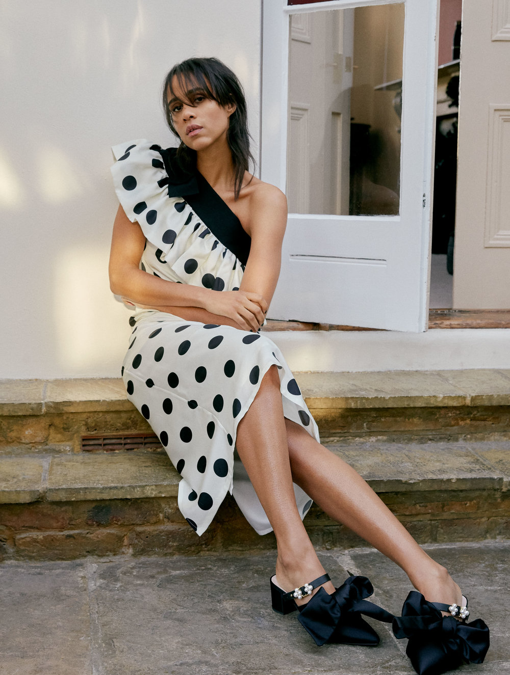Dress and shoes by   MOTHER OF PEARL